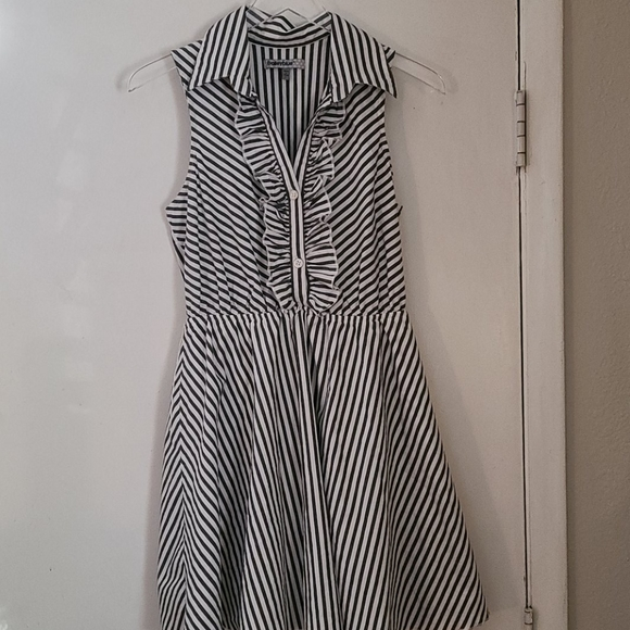 bailey Blue Black and White Dress